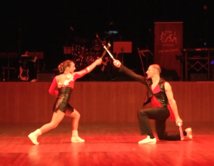 Picture taken during the pirates show performed at the Gutmann Dance School Gala ball in Freiburg in 2015